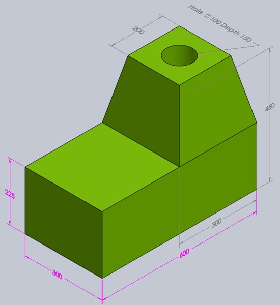 Part drawing with dimension to practice in pro e autocad for Things to practice drawing