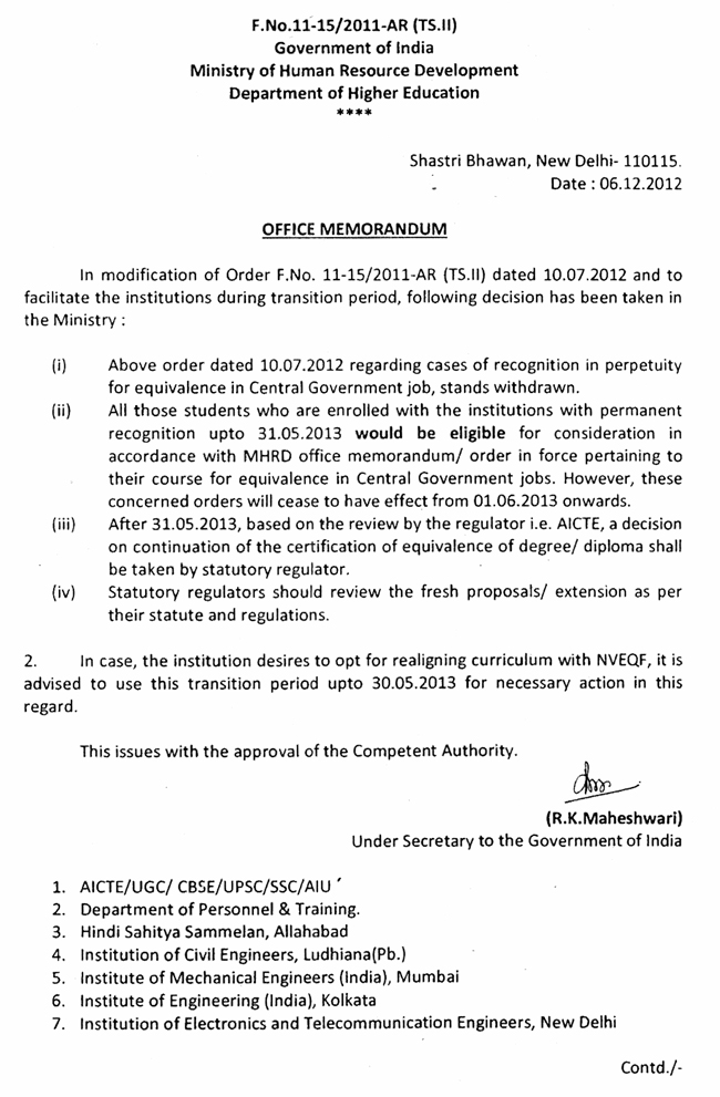 Status of aicte approval of amie iei little things continuation of the certification of equivalence of degreediploma shall be taken by statutory regulator and the statutory regulators should review the yelopaper Images