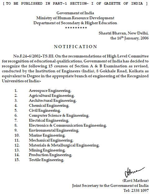 Status of aicte approval of amie iei little things an order dated 06122012 by mhrd says all those students who are enrolled with the institutions with permanent recognition up to 31052013 would be yelopaper Images